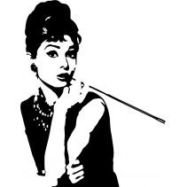 Naklejka NK001S - 50x64cm - Audrey Hepburn