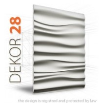 Loft System DEKOR 28 - Panel gipsowy 3D