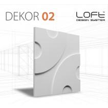 Loft System DEKOR 02 - Panel gipsowy 3D