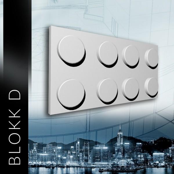 ZD Design BLOKK D - Panel gipsowy 3D
