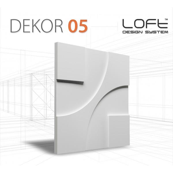Loft System DEKOR 05 - Panel gipsowy 3D