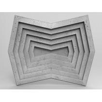 Zicaro ZANGO - Panel gipsowy 3D