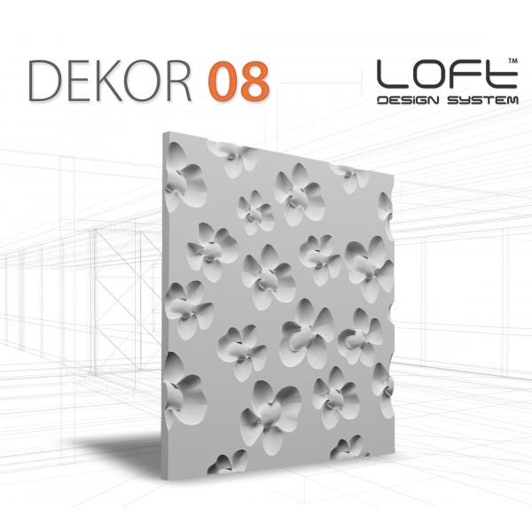 Loft System DEKOR 08 - Panel gipsowy 3D