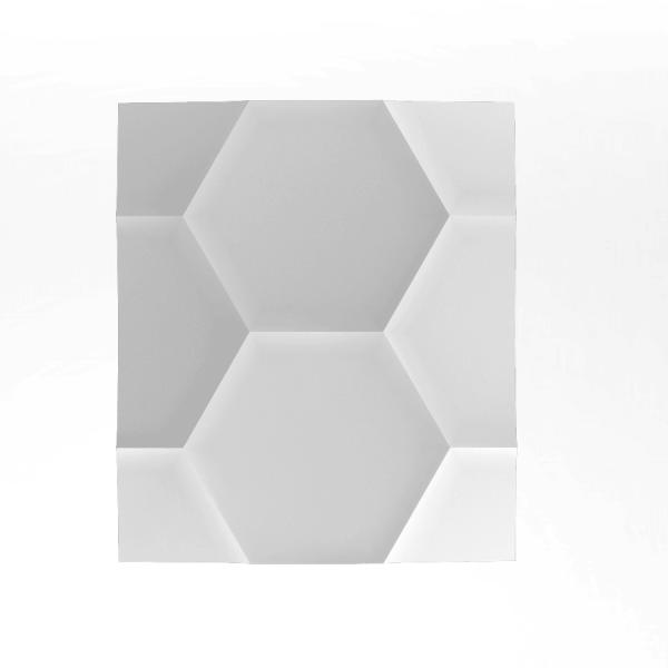 ArtPanel HEXAGON  - Panel gipsowy 3D