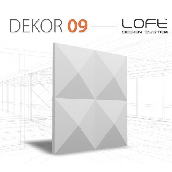 Loft System DEKOR 09 - Panel gipsowy 3D