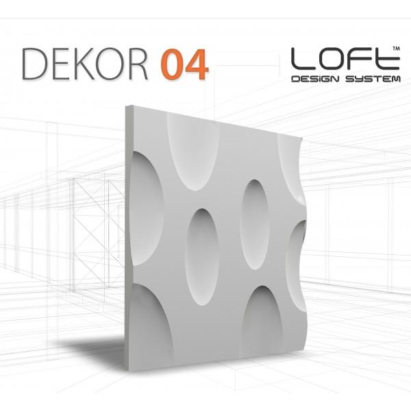 Loft System DEKOR 04 - Panel gipsowy 3D