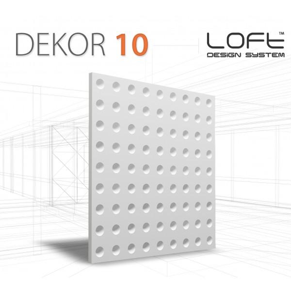 Loft System DEKOR 10 - Panel gipsowy 3D
