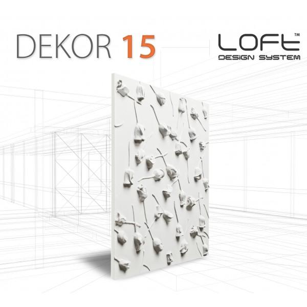 Loft System DEKOR 15 - Panel gipsowy 3D