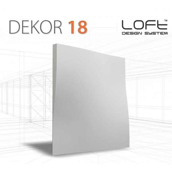 Loft System DEKOR 18 - Panel gipsowy 3D