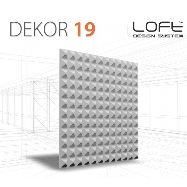 Loft System DEKOR 19 - Panel gipsowy 3D