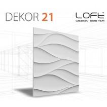 Loft System DEKOR 21 - Panel gipsowy 3D