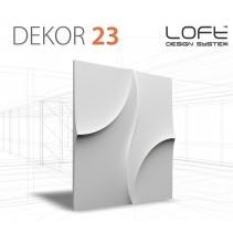 Loft System DEKOR 23 - Panel gipsowy 3D