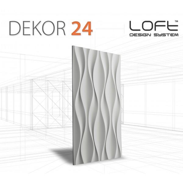 Loft System DEKOR 24 - Panel gipsowy 3D