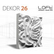 Loft System DEKOR 26 - Panel gipsowy 3D