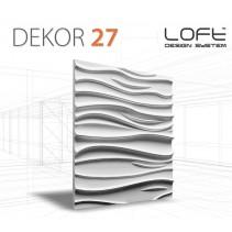 Loft System DEKOR 27 - Panel gipsowy 3D