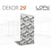 Loft System DEKOR 29 - Panel gipsowy 3D