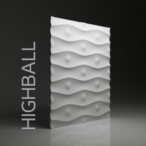 Dunes 03 HIGHBALL - Panel gipsowy 3D