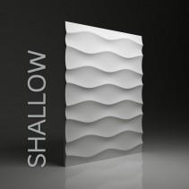 Panel gipsowy 3D SHALLOW efekt pojedynczych falistych linii - model Dunes 9