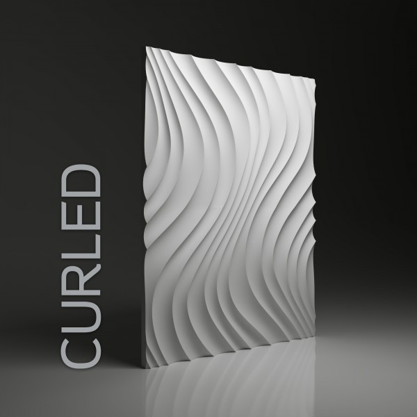Dunes 11 CURLED - Panel gipsowy 3D