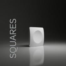 Panel gipsowy 3D SQUARES prosta forma kwadratu z wgłębieniem - model Dunes 13