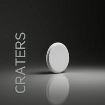 Panel gipsowy 3D CRATERS owalny kształ - model Dunes 14