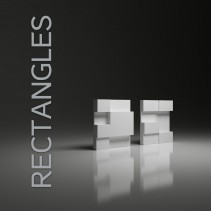 Panel gipsowy 3D RECTANGLES formy kubistyczne - model Dunes 15