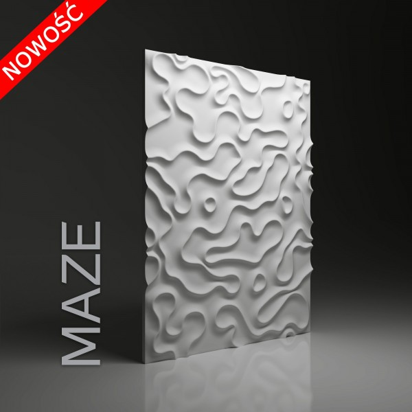 Dunes 25 MAZE - Panel gipsowy 3D
