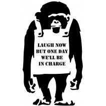 Naklejka NG001 - Monkey Laugh..