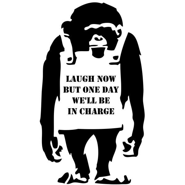 Naklejka NG001 - Monkey Laugh..