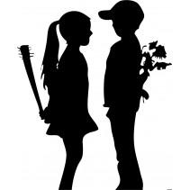 Naklejka NG009S - 75x92cm - Girl & Boy