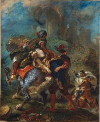 The Abduction of Rebecca - Eugène Delacroix