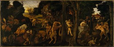 A Hunting Scene - Piero di Cosimo