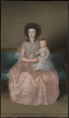 Hrabina Altamira z córką - Francisco de Goya