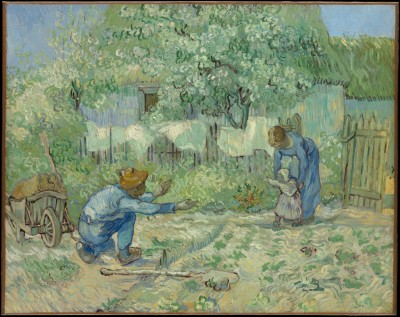 First Steps, after Millet - Vincent van Gogh