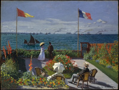 Taras nad morzem w Saint Adresse - Claude Monet