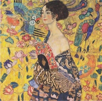 Dama z wachlarzem - Gustav Klimt