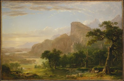 Landscape—Scene from Thanatopsis - Asher Brown Durand