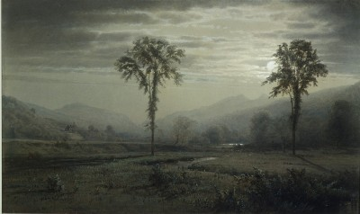 Moonlight on Mount Lafayette, New Hampshire - William Trost Richards