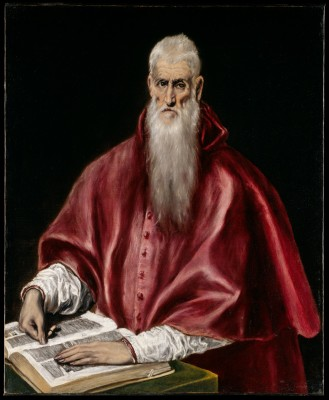 Saint Jerome as Scholar - El Greco