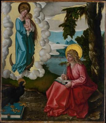 Saint John on Patmos - Hans Baldung