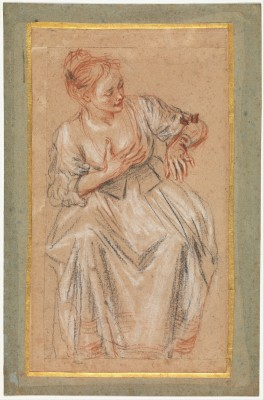 Seated Woman - Antoine Watteau