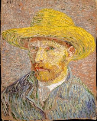 Self-Portrait with a Straw Hat - Vincent van Gogh