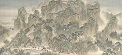 The Kangxi Emperors Southern Inspection Tour, Scroll Three: Jinan to Mount Tai - Wang Hui