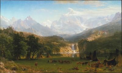 The Rocky Mountains, Landers Peak - Albert Bierstadt