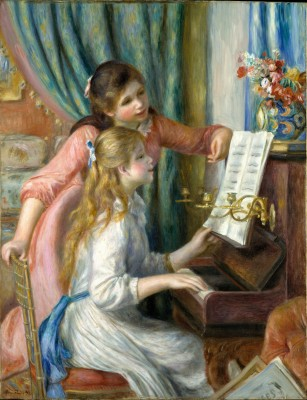 Two Young Girls at the Piano - Auguste Renoir