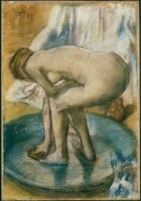 Woman Bathing in a Shallow Tub - Edgar Degas