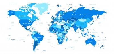 Fototapeta Mapa Świata #85680303