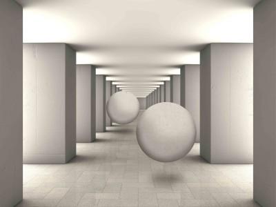 Kule 3D w tunelu