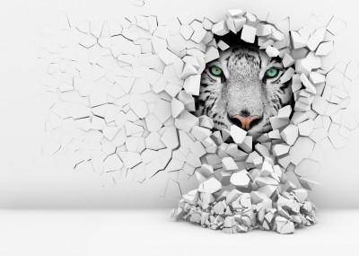 Tygrys w ścianie