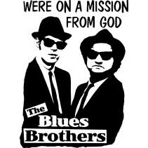 Naklejka NK003S - 50x68cm - Blues Brothers
